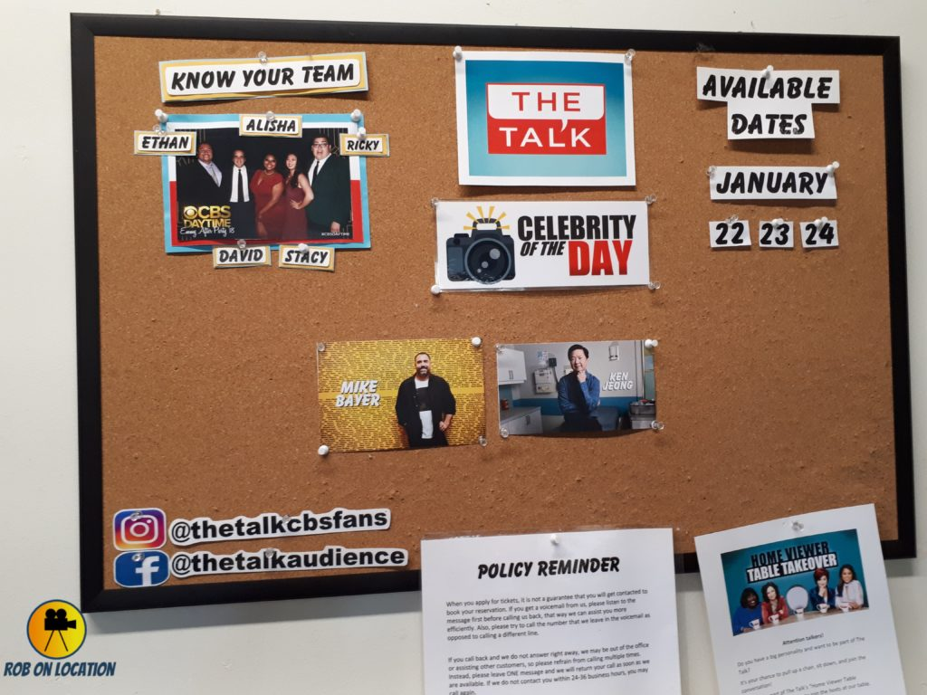 The Talk daily board