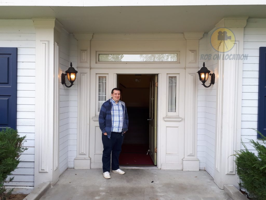 me at the house front door