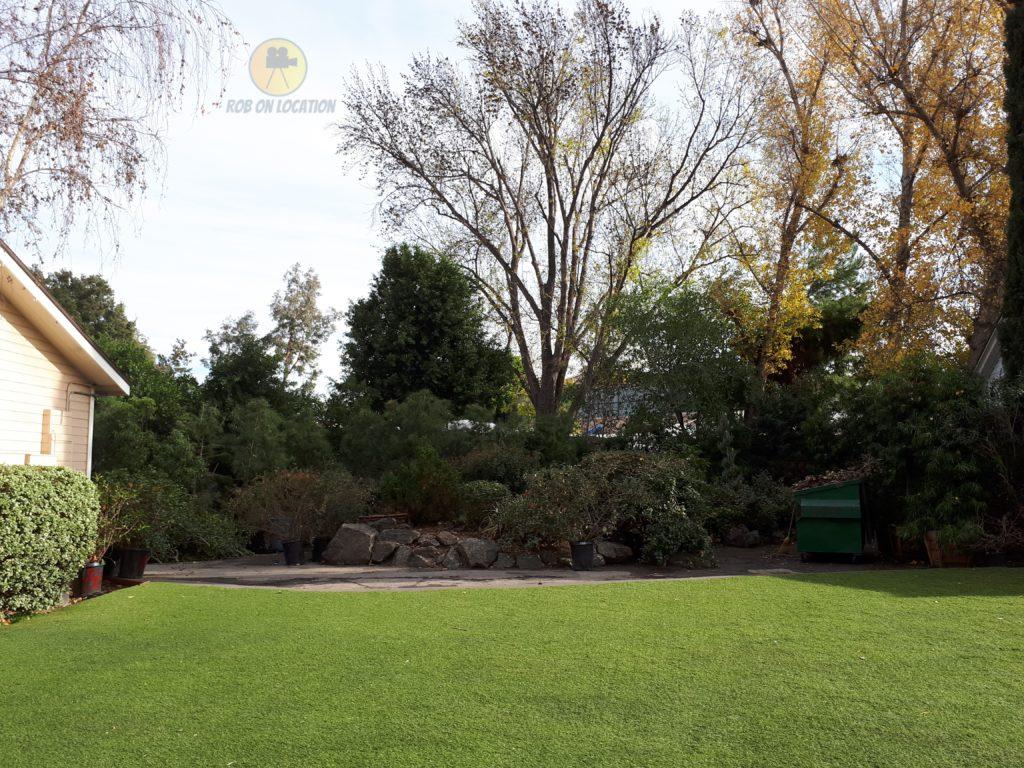 park area used as American Housewife backyard