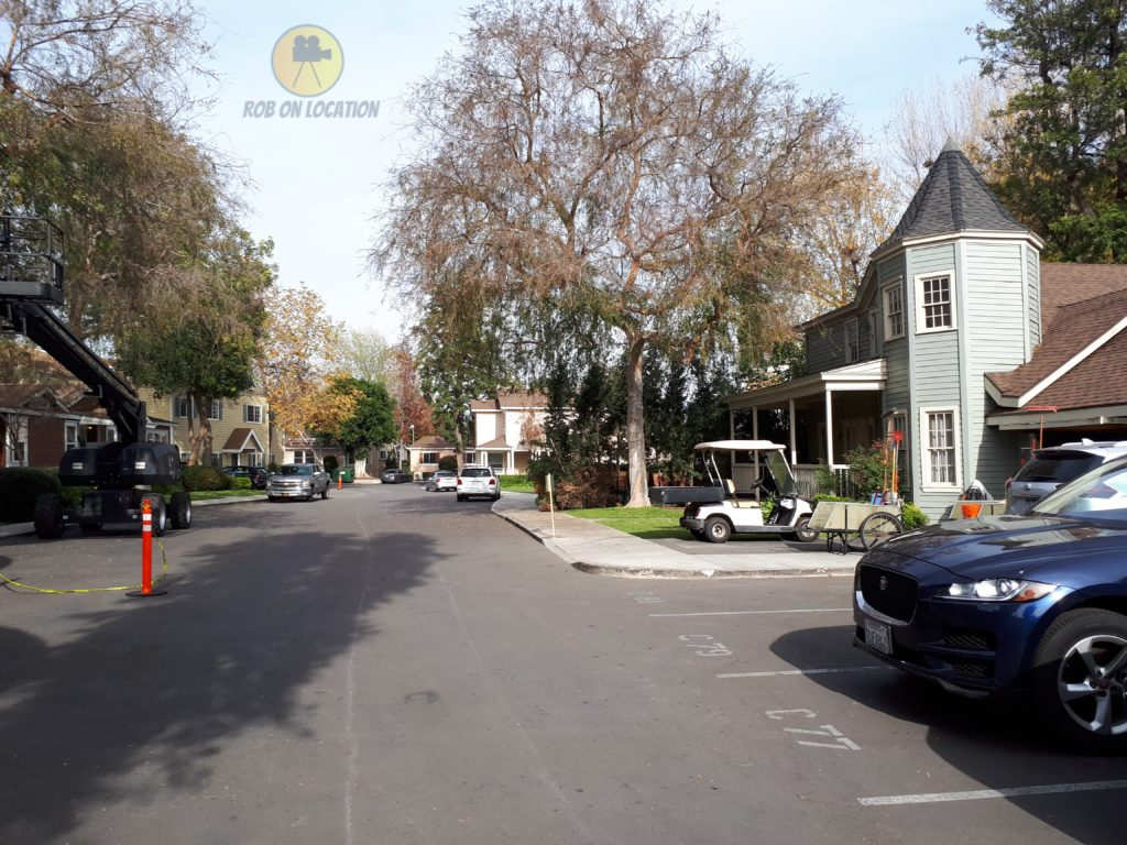 CBS Studio Center residential backlot on American Housewife