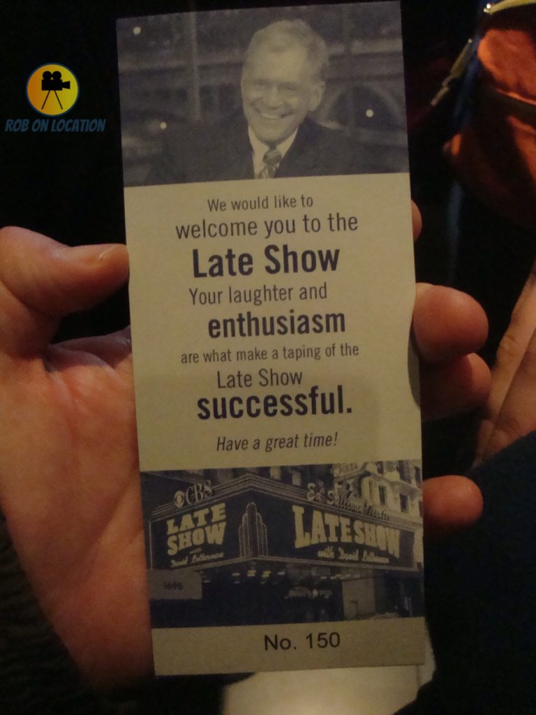 David Letterman ticket