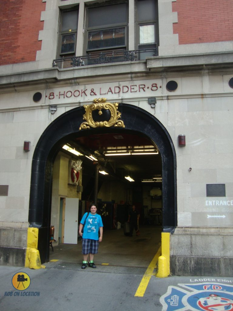 me at the Ghostbusters firehouse