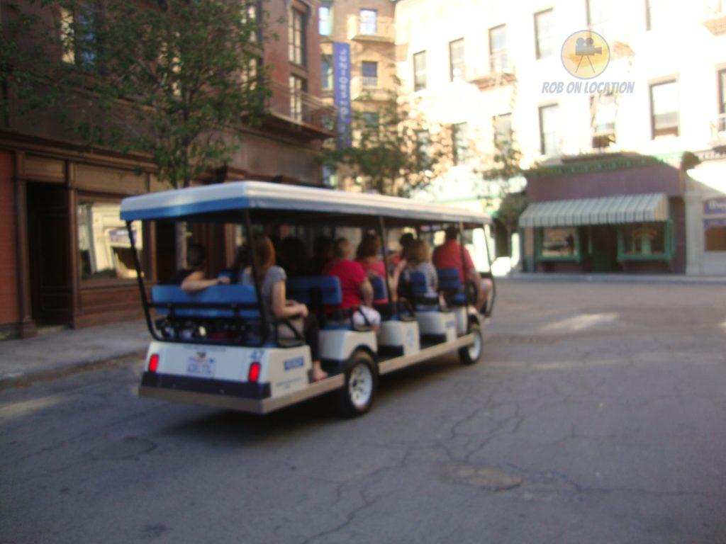 the tour cart at Warner Brothers Studios