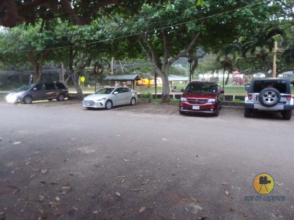 Ehukai Beach Park parking lot