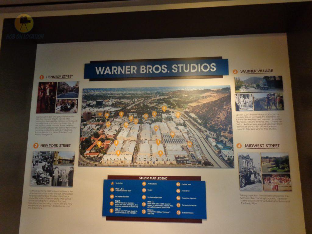 Warner Brothers Studios map