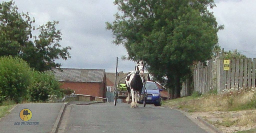 a horse and carriage in Easington Colliery