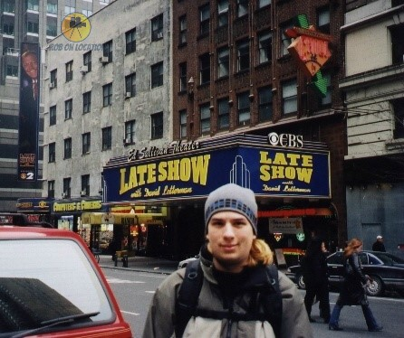 me at the Ed Sullivan Theater