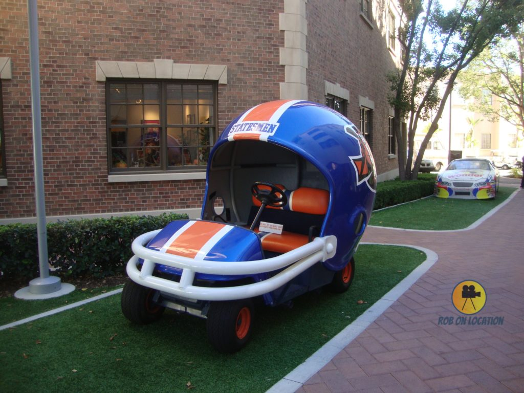 football car at Sony Pictures