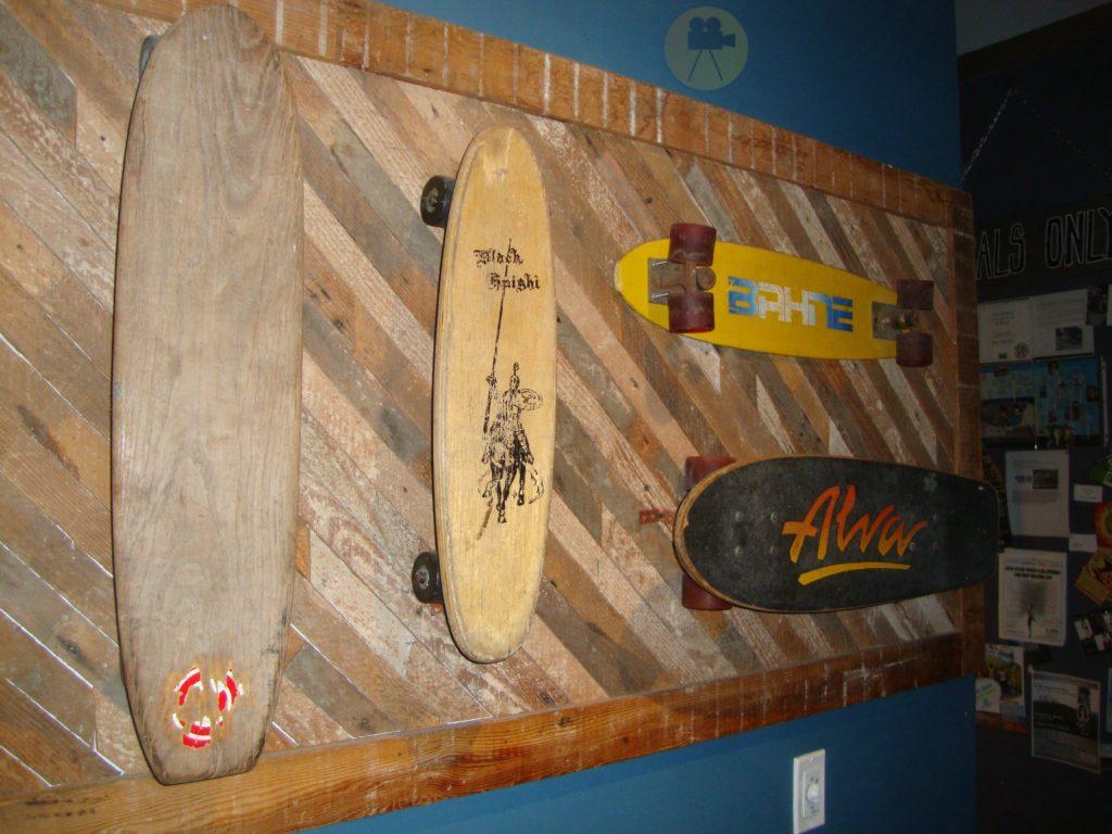 skateboards on display at the old Zephyr Shop