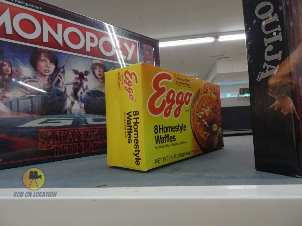 Eggo prop box used in Stranger Things