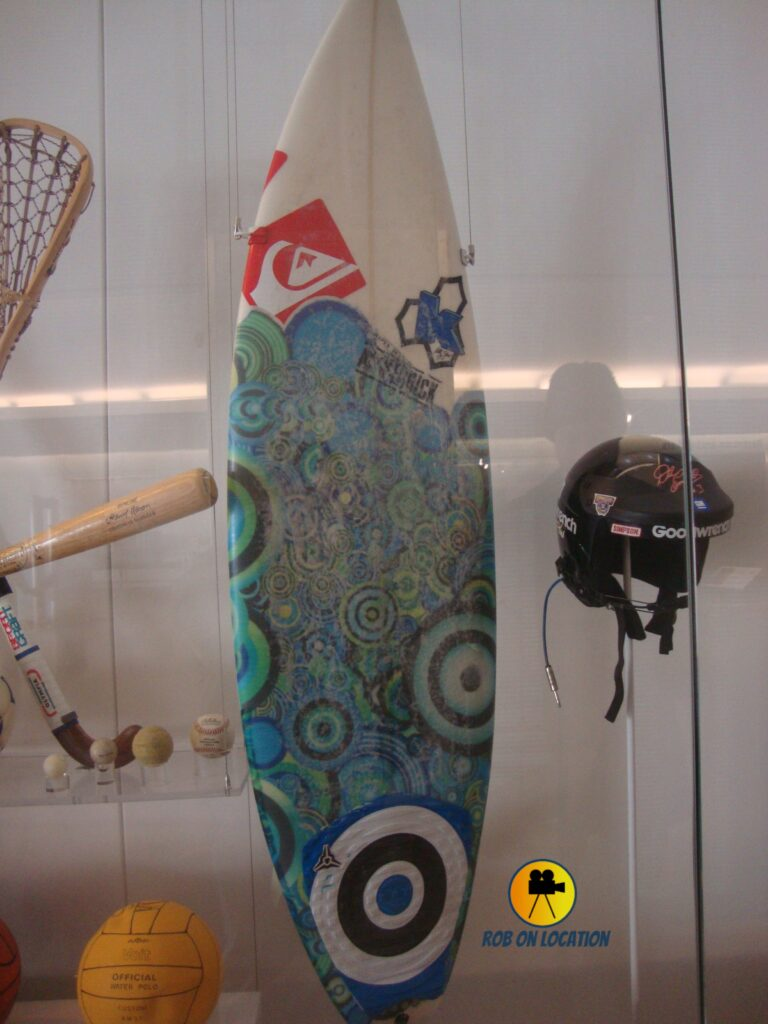 Kelly Slater's surfboard at the Smithsonian
