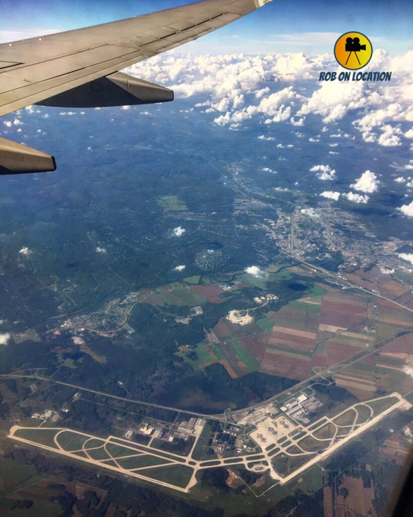 Mirabel Airport from the sky