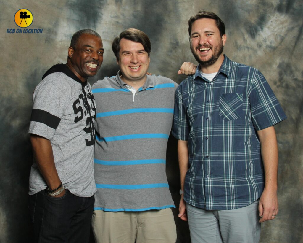 The Big Bang Theory Levar Burton and Wil Wheaton